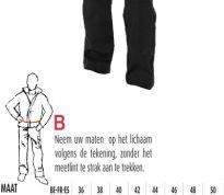 70d42800c9b Seaton - Zwarte werkbroek / 65% polyester en 35% katoen
