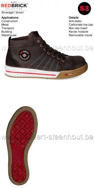 Redbrick Safety sneaker werkschoenen / veiligheidsschoenen Smaragd S3