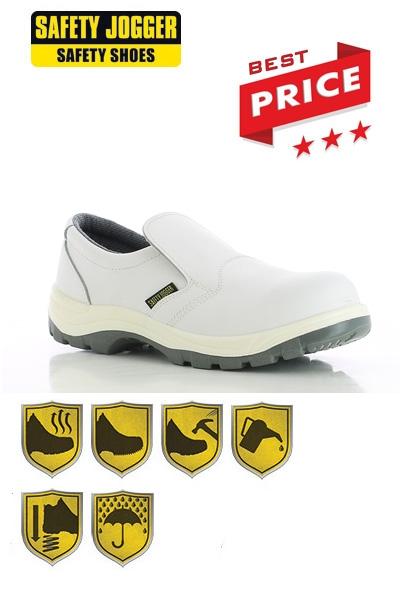 Witte Werkschoenen.Werkkleren Safety Jogger X0500 Witte Werkschoenen
