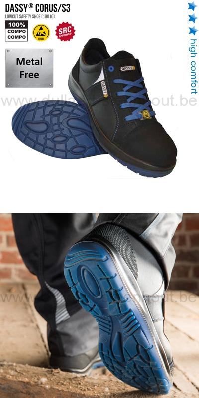 Werkschoenen Veiligheidsschoenen.Werkkleren Dassy Corus S3 10010 Sportieve Werkschoenen