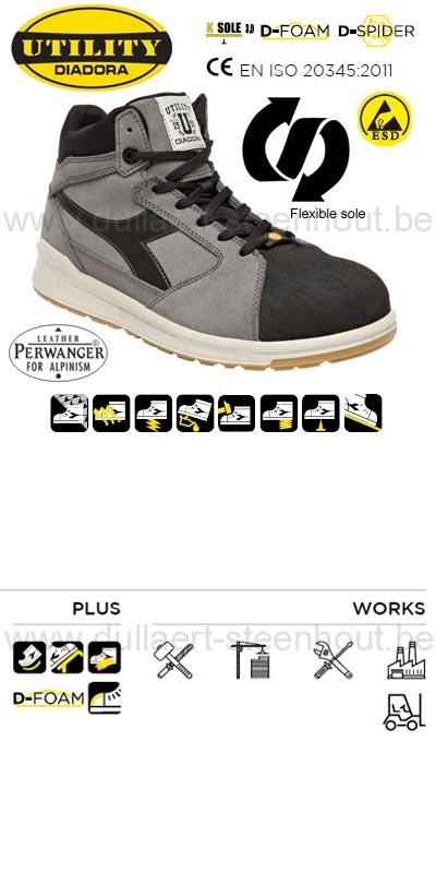 Diadora - D-Jump Hi PRO S3 ESD sneaker veiligheidsschoenen   sneaker  werkschoenen a7220d03832