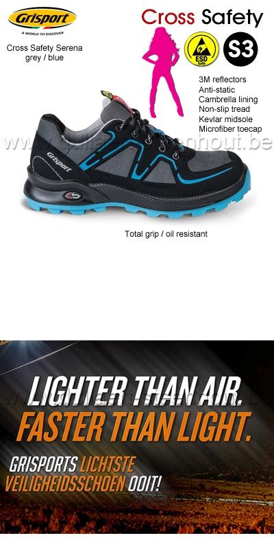 Grisport Werkschoenen S3.Werkkleren Grisport Cross Safety Serena Dames Werkschoenen S3