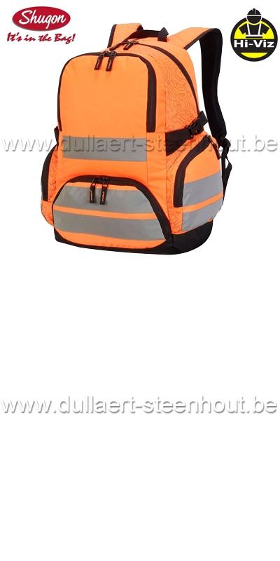 e2f79837ee1 Shugon - London Hi-Vis 7702 Fluo oranje rugzak met reflecterende banden