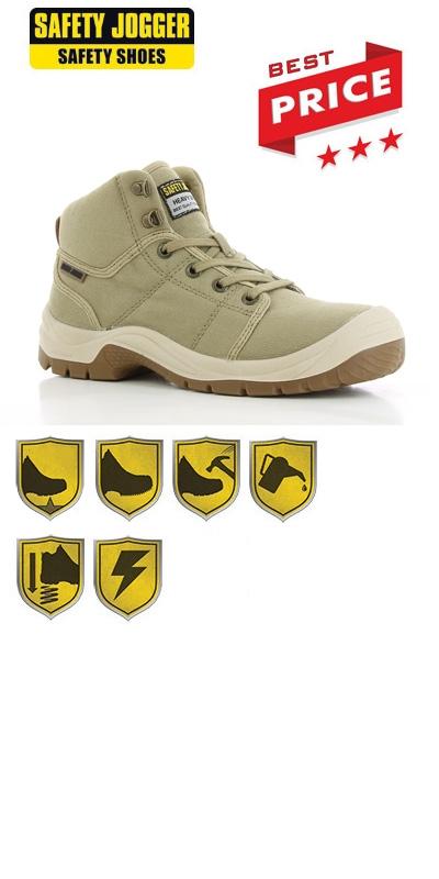 Werkschoenen Veiligheidsschoenen.Werkkleren Safety Jogger Desert S1p Src Beige Werkschoenen