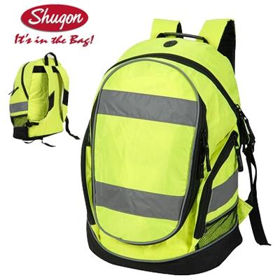ffa84126277 Werkkleren   Shugon fluo gele rugzak voor een zeer hoge zichtbaarheid